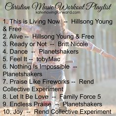 Christian Music Workout Playlist with Songs and Artists