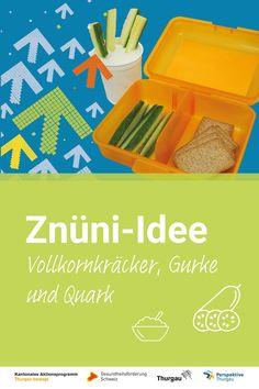 #Znüni #gesunde Ernährung Wir zeigen dir, was du deinem Kind im Mai in die Znünibox packen kannst. Schau dir die Video-Anleitung an oder lies unsere Schritt-für-Schritt-Anleitung. Du benötigst folgende Materialien und Zutaten: Vollkornkräcker, Gurke, Natur-Joghurt. Schritte: 1. Ein Stück Gurke abschneiden 2. Gurke halbieren und in Streifen schneiden 3. Znünibox füllen 5. Natur-Joghurt separat mitgeben 5. Fertig ist das Znüni Mai, Awesome, Slumber Party Birthday, Yogurt, Simple, Kid Cooking, Birthday Cakes, Day Care, Healthy Food