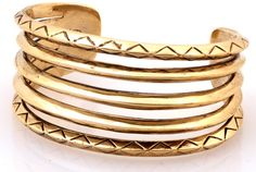 House of Harlow Etched Stack Cuff #houseofharlow #edgy