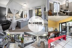 Apartment 3 @ Hornbill House in Hermanus sleeps a maximum of 4 guests. Fully equipped for self catering with covered terrace with built-in BBQ. Ideal holiday accommodation in the Hemel-en-Aarde Village of Hermanus. Built In Bbq, Holiday Accommodation, Kitchenette, Lodges, Living Area, South Africa, Catering, Terrace, Beach House