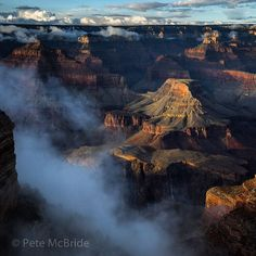 "omg-thatfreakingawsome: ""standavis: "" ""Photo @pedromcbride on assignment for @natgeo // Misty evening in the south rim of the Grand Canyon."