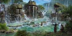 Chaos in the old World: Fountains of Rebirth, Marco Gorlei on ArtStation at https://www.artstation.com/artwork/chaos-in-the-old-world-fountains-of-rebirth