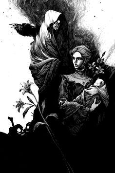 Ink work by Nico Delort, via Behance
