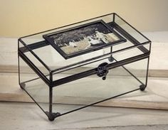 Large Clear Display Photo Box by J Devlin Glass Art