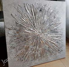 Textured Canvas Art, Diy Canvas Art, Canvas Crafts, Art Texture, Texture Painting, Abstract Painting Techniques, Art Techniques, Hot Glue Art, The Joy Of Painting