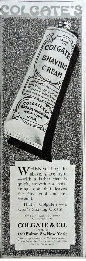 PERSONAL CARE: Colgate Shaving Cream, 1917