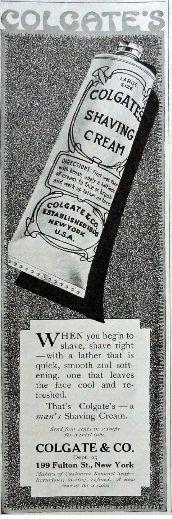PERSONAL CARE: Colgate Shaving Cream, 1917