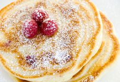 raspberry buttermilk pancakes - Yum! A great way to start the day.