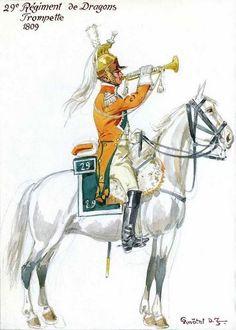 Trompette du 29ème Régiment de Dragons 1809