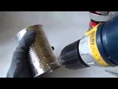 How to make a simple piston engine made of cans - YouTube