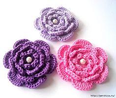 Delicadezas en crochet Gabriela: Tutoriales de flores