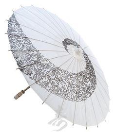 "32"" White Twist Paper Parasol by Asian Import Store, Inc., http://www.amazon.com/dp/B004O3DZFG/ref=cm_sw_r_pi_dp_E9Xarb0G9KG4H"