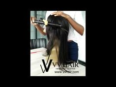 VV straight hair wigs different roller ways