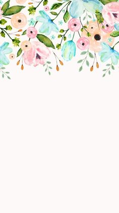 Ideas For Wallpaper Floral Watercolor Beautiful Flower Backgrounds, Wallpaper Backgrounds, White Wallpaper, Phone Backgrounds, Beautiful Wallpaper, Trendy Wallpaper, Picture Sharing, Deco Floral, Screen Wallpaper