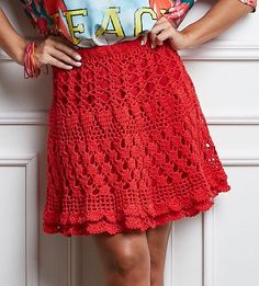 Ingresos Circle - Salir Red Charm Crochét skirt