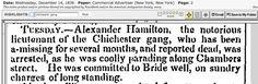 "1836.12.14. ""Alex Hamilton, notorious lieutenant of the Chichester Gang."""