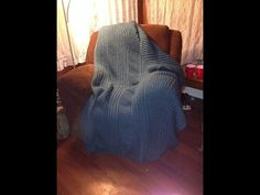 Cozy Wool Loom Knitted Blanket Beginning to End - YouTube