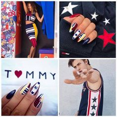 Tommy Hilfiger Inspiration by Indigo Educator Kasia Stachura, Indigo Poraj Dope Nails, Fun Nails, Spring Nails, Summer Nails, Dream Catcher Nails, Nail Mania, Indigo Nails, Best Salon, Nail Arts
