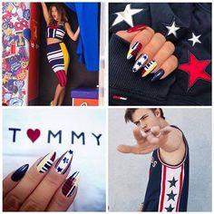 Tommy Hilfiger Inspiration by Indigo Educator Kasia Stachura, Indigo Poraj Spring Nails, Summer Nails, Dream Catcher Nails, Nail Mania, Indigo Nails, Best Salon, Hot Nails, Manicure And Pedicure, Gel Polish