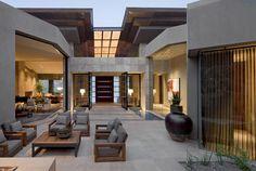 Modern home ideas exterior design: contemporary outdoor living design in ph Architecture Durable, Architecture Design, Futuristic Architecture, Modern Outdoor Living, Modern Patio, Modern Living, Casa Loft, Desert Homes, Design Moderne