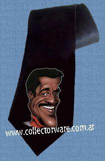 SAMMY DAVIS JR. cartoon 1 DELUXE ART CUSTOM HANDPAINTED TIE $28 + shipping *Please see details at http://www.collectorware.com.ar/neckties-sammydavis_jr.htm