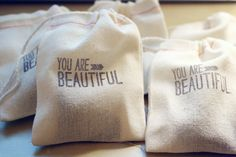 love these gift bags! we can stamp a message about inspiration/big ideas