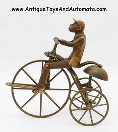 J & E Stevens Monkey on Velocipede antique cast iron bell toy bronze casting patterns