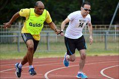 Athletics Open 2015 - Guide and Runner Christopher Minn