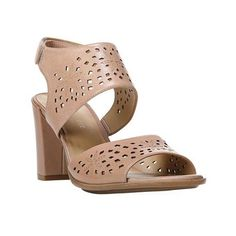 Women's Naturalizer Zinna Slingback ($80) ❤ liked on Polyvore featuring shoes, sandals, casual, casual footwear, heels, naturalizer sandals, strappy high heel sandals, ankle strap sandals, high heeled footwear and strappy leather sandals