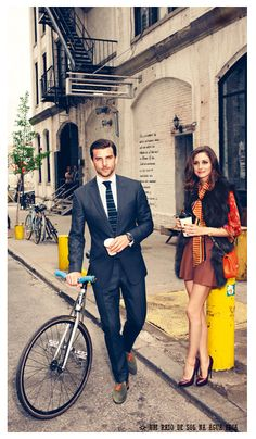 Olivia Palermo and Johannes Huebl New York City Style.. His suit
