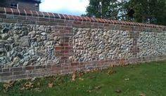 Brick and flint wall