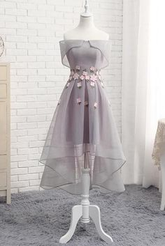 Homecoming Dresses High Low, Cute Prom Dresses, Ball Dresses, Elegant Dresses, Pretty Dresses, Beautiful Dresses, Evening Dresses, Short Prom, Dresses Dresses