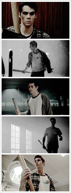 Stiles and his bat.