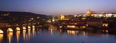 unique views of Vlatva river, Charles Bridge and Prague Castle from Four Seasons Prague