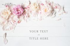 Styled floral stock photography by White Hart Design Studio on Creative Market