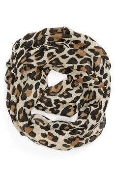 Evelyn K Cheetah Print Infinity Scarf available at #Nordstrom