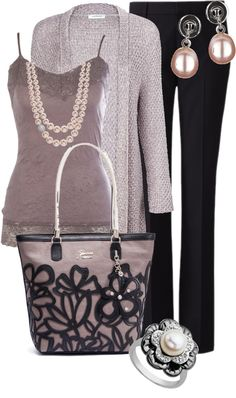 """lilac pearls"" by sagramora ❤ liked on Polyvore"
