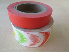 Washi Tape  Double Roll  Neon Splash and Solid by HazalsBazaar, $5.00