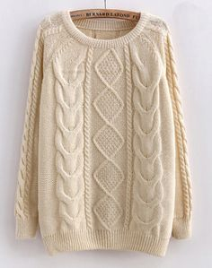Creamy Cabled Sweater. I'm a sucker for cozy things, and especially those with detail that make it stand out.