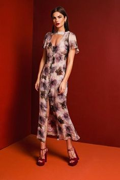 Carnation Dress - Green Dahlia