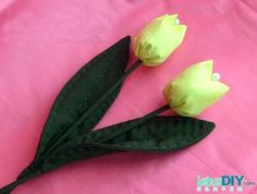 How to make fabric tulip -----LetusDIY.ORG|DIY Everything here