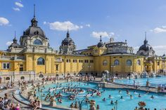 Hot springs make the city into a spa playground.  Pest, Varosliget (City Park).