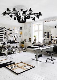 Home Office Interior Design Deco Studio, Home Studio, Studio Spaces, Studio Living, Living Room, Studio Room, Living Spaces, Art Studio Design, Deco Design