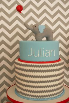 great cake topper. Baby Elephant Birthday Party - Spaceships and Laser Beams
