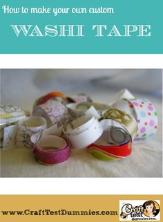 make your own custom washi tape from wrapping paper!