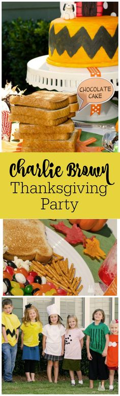 charlie brown thanksgiving party by the party teacher https thepartyteacher com
