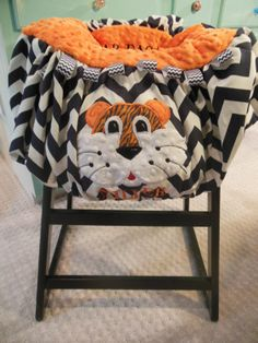 Tiger Shopping Cart Cover by TWINSANDQUINN on Etsy, $55.00