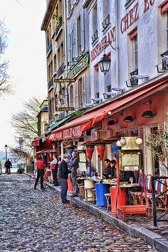 A Montmartre neighborhood street, Paris