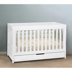$399 white convertible #crib with drawer