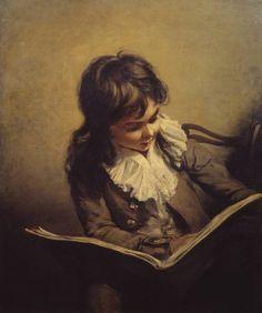 A Boy Reading (c.1795). Ramsay Richard Reinagle (English, 1775‑1862). Oil paint on canvas. Tate.